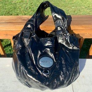 Large Patent Guess Tote Bag